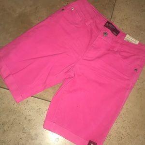 Hot pink Bermuda shorts!